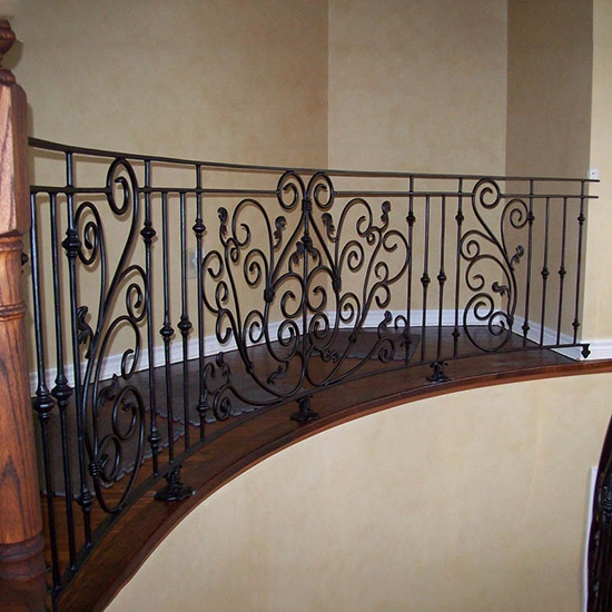 Indoor Handmake Wrought Iron Railing