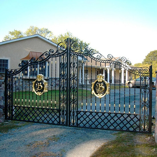 European NobilityUE  Style Wrought Iron Gate