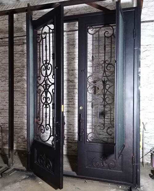 How to pick a good classy wrought iron front door