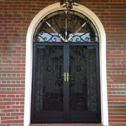 Wrought Iron Door With Arched Transom