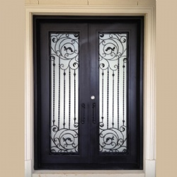 Antique Glass Wrought Iron Front Doors