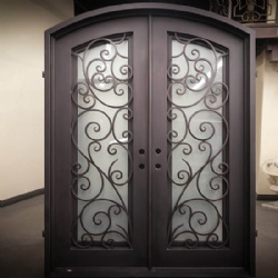 Black Wrought Iron French Patio Doors