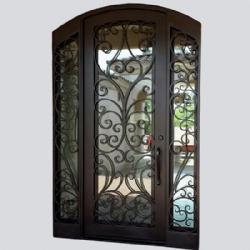 Single Wrought Iron Entry Doors With Sidelights