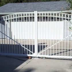 White Rod Wrought Iron Gates