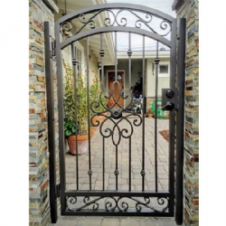 Delicate Wrought Iron Gate For Footway
