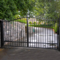 Arched Swing Wrought Iron Gate With Moter
