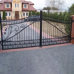 Remote Auto Wrought Iron Gate For Driveway