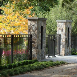 Wrought Iron Fence With Gate For Garden