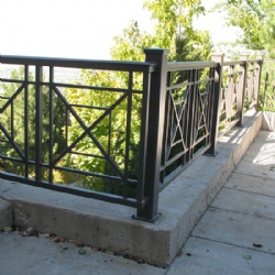 Simple Wrought Iron Balcony Railing For Villa
