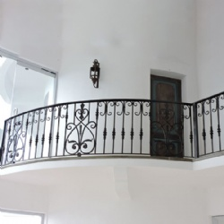 Classical Indoor Wrought Iron Railing