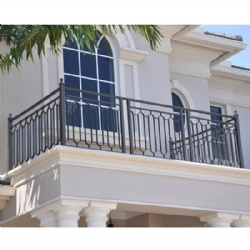 Outdoor Simple Villa Wrought Iron Balcony Railing