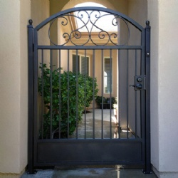 Wrought Iron Sidewalk Single Small Gate